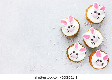 Easter bunny cupcakes , funny Easter treats for kids