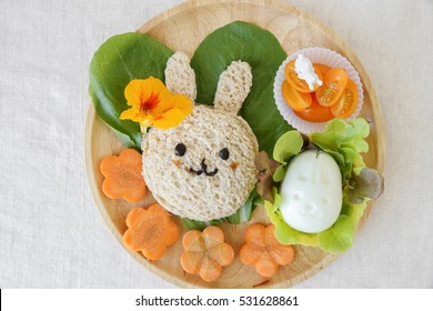 Easter Bunny lunch, fun food art for kids