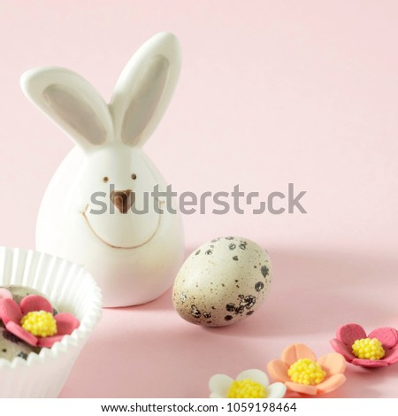 Easter Bunny On Light Pastel Background Stock Photo Edit Now