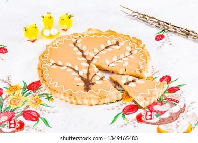 Easter cake, Easter eggs, Polish Easter cake, a great night's supper, mazurek wilekanocny,