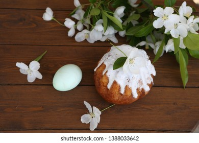 Easter cake and jasmine flowers