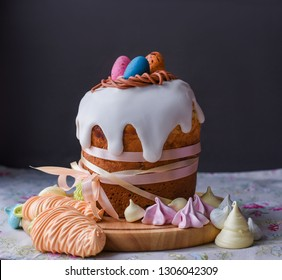 Easter, Easter cake on a dark background