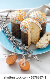Easter cakes with willow twigs