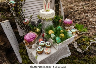 easter candy bar for special event or wedding ceremony