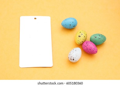 Easter card with decorated eggs and pink tulips Easter card with decorated eggs Happy Easter - Shutterstock ID 605180360