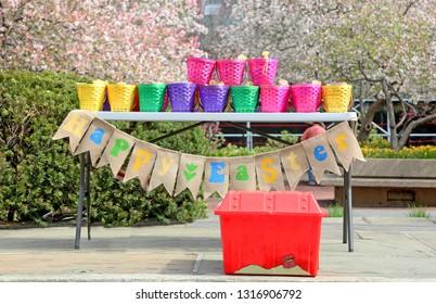Easter Celebration Table Baskets