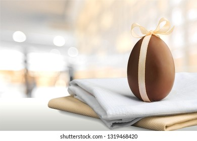 Easter with chocolate eggs