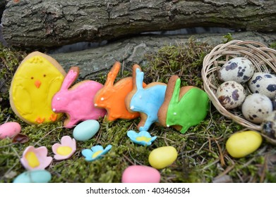 Easter composition.Easter cookies
