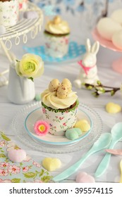 Easter cupcakes with Easter eggs