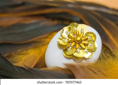 Easter Egg with feathers