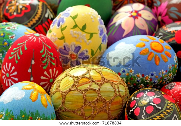 Easter egg,  hand painted beautiful and colorful