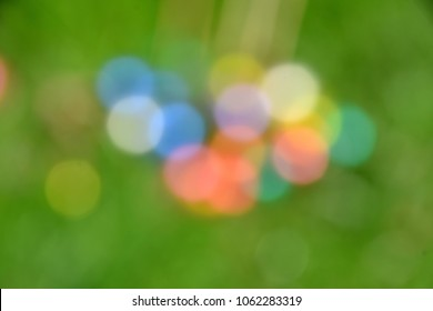 Easter egg hunt - eggs out of focus - bokeh style