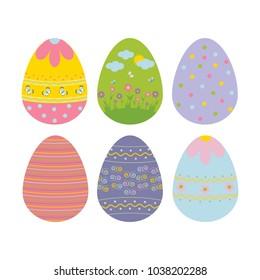 Easter Egg Icon on the white background.  illustration