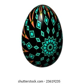 easter egg isolated on the white background
