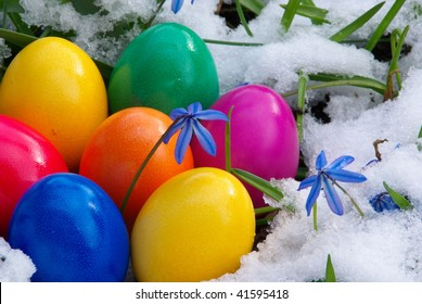 d3becaa104ae4 Easter Egg Snow Stock Photos