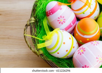 Easter eggs with amazing colors
