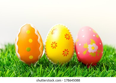Easter eggs - close-up of colorful easter eggs for your easter design