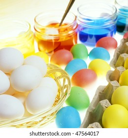 Easter eggs' coloration