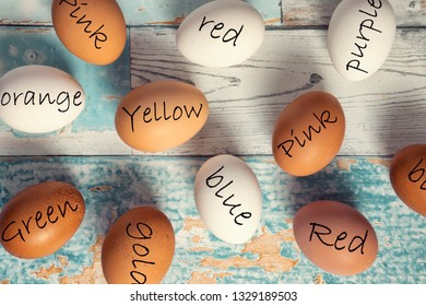 Easter eggs decoration laziness idea,   fun and ingenuity painted eggs for Easter, preparing Easter lazy women