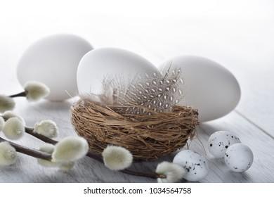 Easter eggs designed background