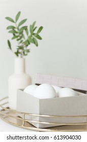 Easter eggs in elegant box