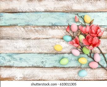 Easter eggs flowers Easter decoration