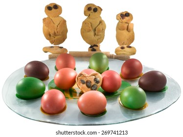 Easter eggs with greek tradition Lazarakia