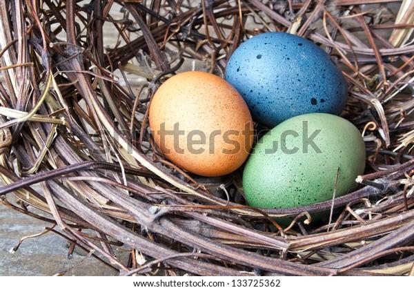 Easter eggs in a nest/Easter/nest