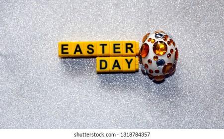 Easter eggs in shining rhinestones.  symbol of  rich Easter week.