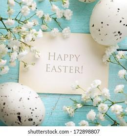 Easter greeting card, frame background