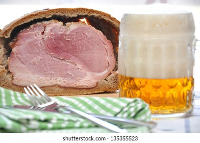 Easter Ham in Bread Dough