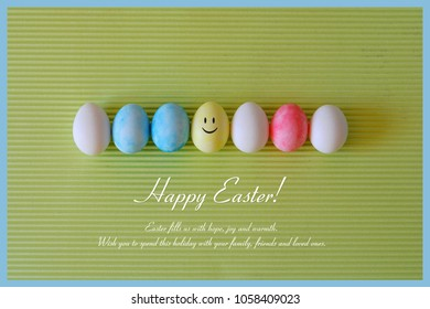 Easter. Happy easter. Smail eggs. Easter card.
