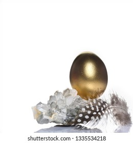 Easter holiday concept luxury background with gemstones