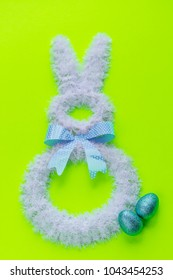Easter holiday decorations on brigth colors