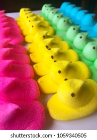 Easter marshmallow peeps candy