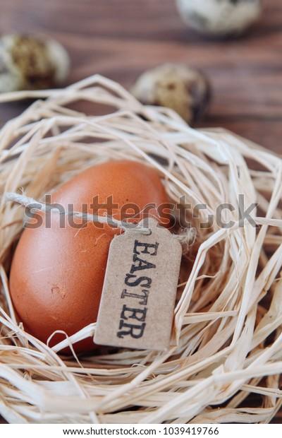 easter, nest, quail egg