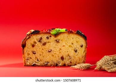 Easter panetone sliced, holiday food