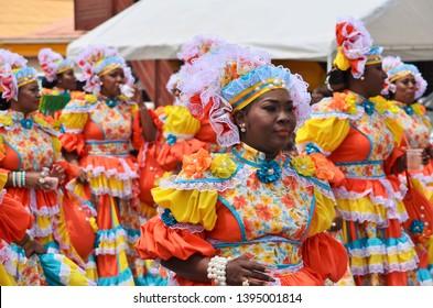 Easter parade on 21 april 2019 at Santa Maria, Curacao, Antilles
