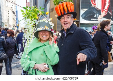 Easter parade on Fifth Avenue. New York City - March 27, 2016