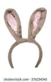 easter rabbit fancy dress ears isolated