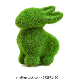 Easter rabbit grass figure
