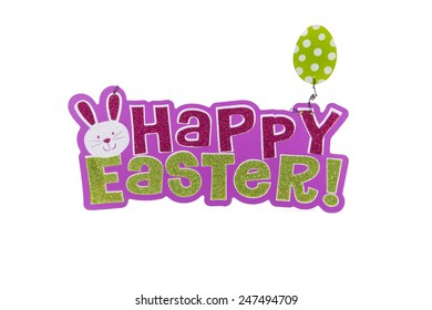 An Easter sign against a white background