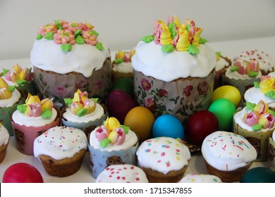 Easter theme, pastry cakes and pastries