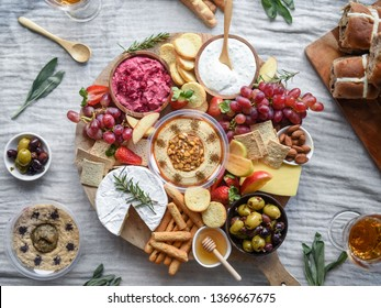 Easter Themed Dip and Cheese Platter