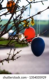 Eastereggs on a Shrub