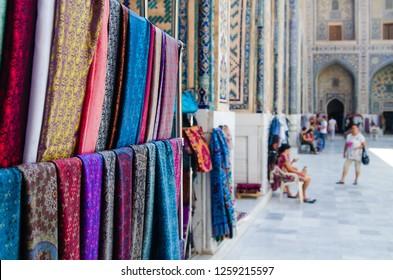 Eastern bazaar in Samarkand