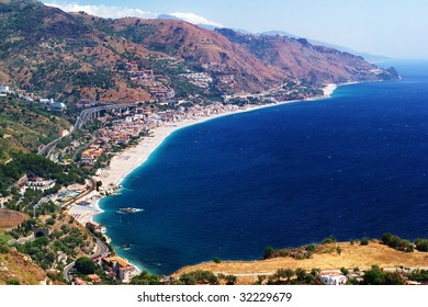 Eastern coast of Sicily island