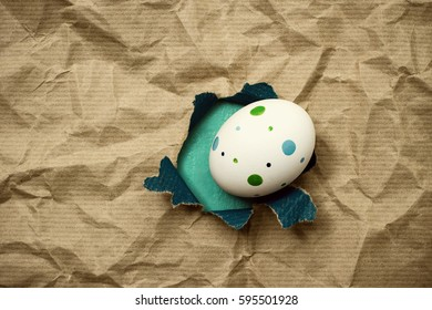 Eastern egg in hole brown wrapping paper