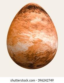 Eastern egg red leaves texture, digital art work.