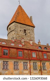 Eastern Europe, Baltic States, Estonia, Tallinn. Old town, tower along the city walls.